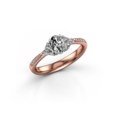 Foto van Verlovingsring Aleida 2 585 rosé goud diamant 0.683 crt