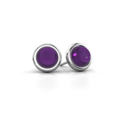 Picture of Stud earrings Jodi 925 silver amethyst 6 mm