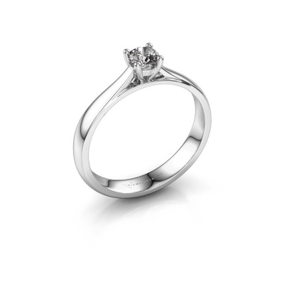 Verlobungsring Sam 585 Weißgold Diamant 0.25 crt