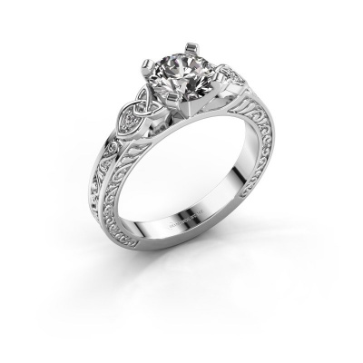 Picture of Engagement ring Gillian 585 white gold diamond 1.02 crt