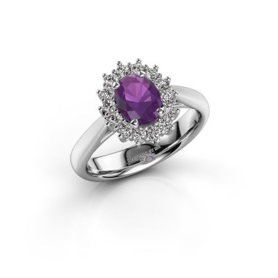 Picture of Engagement ring Margien 1 925 silver amethyst 7x5 mm
