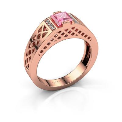 Herrenring Jonathan 585 Roségold Pink Saphir 5 mm