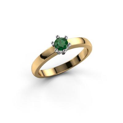 Engagement ring Luna 1 585 gold emerald 3.7 mm