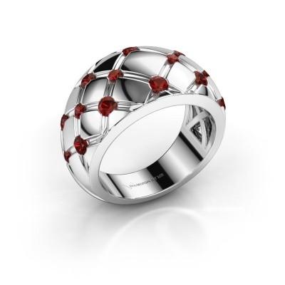 Ring Imke 925 Silber Granat 2.5 mm