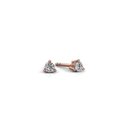 Foto van Oorstekers Somer 375 rosé goud lab-grown diamant 0.10 crt