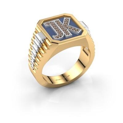 Foto van Zegelring Mike 585 goud bruine diamant 0.005 crt