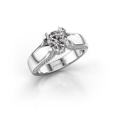 Verlovingsring Jeanne 1 585 witgoud diamant 1.385 crt