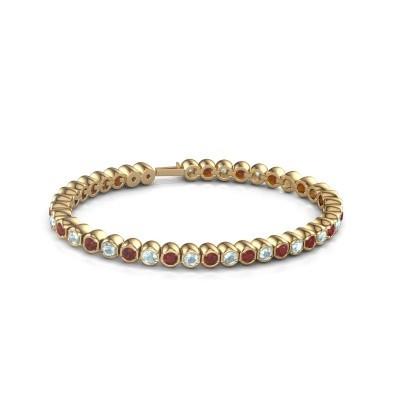 Foto van Tennisarmband Mellisa 375 goud robijn 3.5 mm