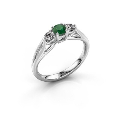 Picture of Engagement ring Amie RND 585 white gold emerald 4.2 mm