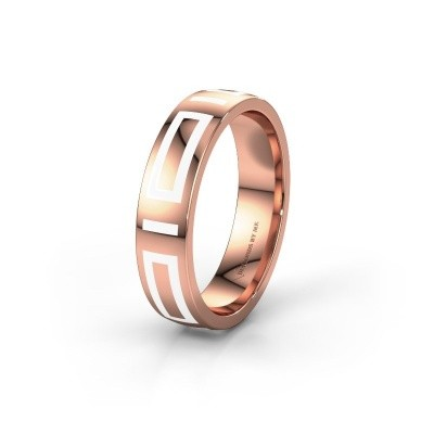 Wedding ring WH2228M25A 375 rose gold ±5x1.7 mm