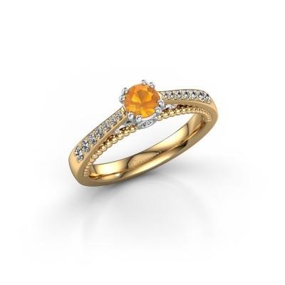 Verlovingsring Rozella 585 goud citrien 4.2 mm