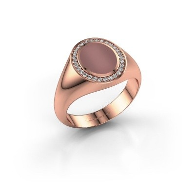 Pinky ring Adam 1 375 rose gold carnelian 10x8 mm