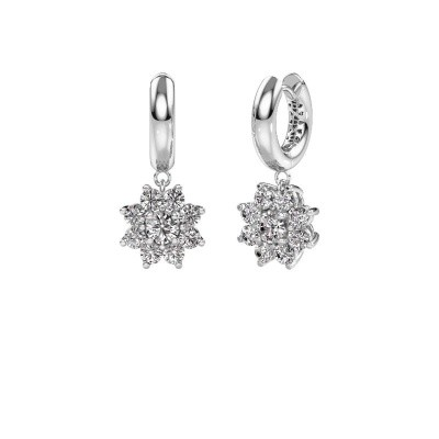 Picture of Drop earrings Geneva 1 950 platinum zirconia 4.5 mm