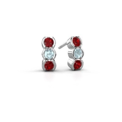 Picture of Earrings Lotte 585 white gold ruby 3 mm