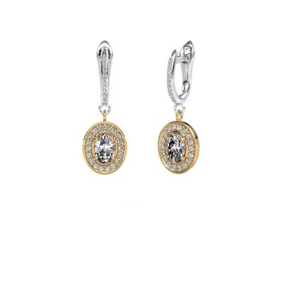 Picture of Drop earrings Layne 2 585 gold zirconia 7x5 mm