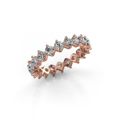 Picture of Stackable ring Janie 3.0mm 375 rose gold lab-grown diamond 2.00 crt