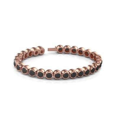 Foto van Tennisarmband Delma 375 rosé goud zwarte diamant 8.40 crt