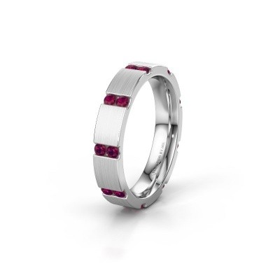 Weddings ring WH2132L14BM 585 white gold rhodolite ±4x2.2 mm