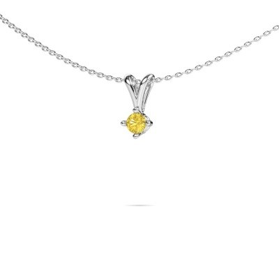Photo de Collier Jannette 585 or blanc saphir jaune 3.7 mm