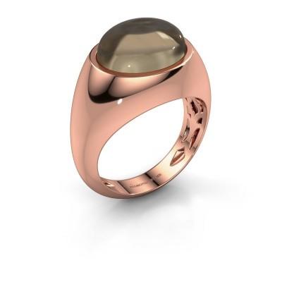 Ring Laurien 375 rose gold smokey quartz 12x10 mm
