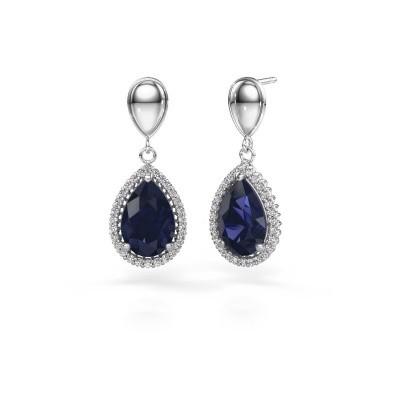 Drop earrings Cheree 1 950 platinum sapphire 12x8 mm