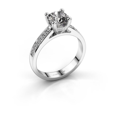 Bague de fiançailles Nynke 950 platine diamant 1.18 crt