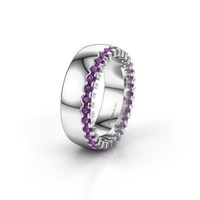 Wedding ring WH6120L27C 950 platinum amethyst ±7x2.2 mm