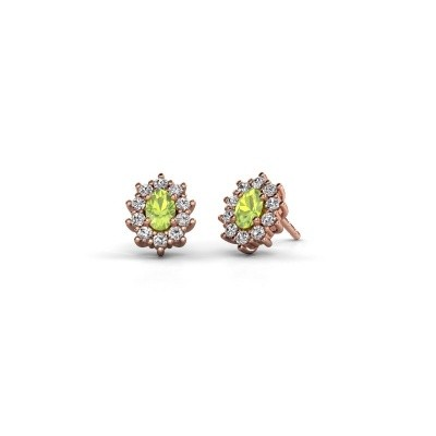 Picture of Earrings Leesa 375 rose gold peridot 6x4 mm