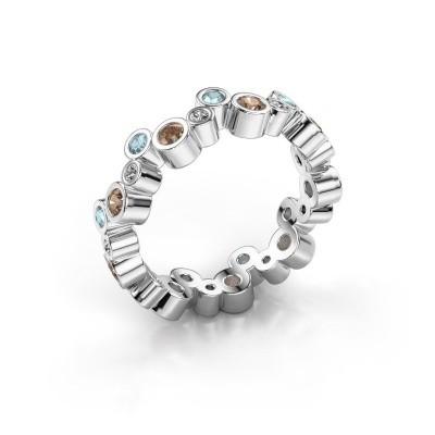 Foto van Ring Tessa 375 witgoud bruine diamant 0.675 crt