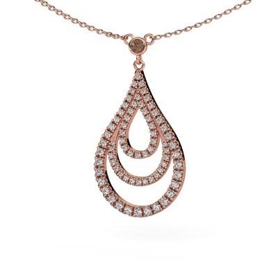 Foto van Hanger Delpha 375 rosé goud bruine diamant 0.487 crt