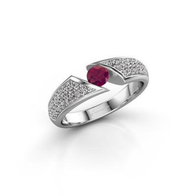 Picture of Ring Hojalien 3 925 silver rhodolite 4 mm