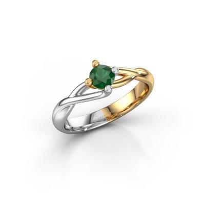 Foto van Ring Paulien 585 goud smaragd 4.2 mm