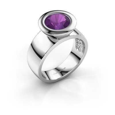 Ring Maxime 925 silver amethyst 8 mm