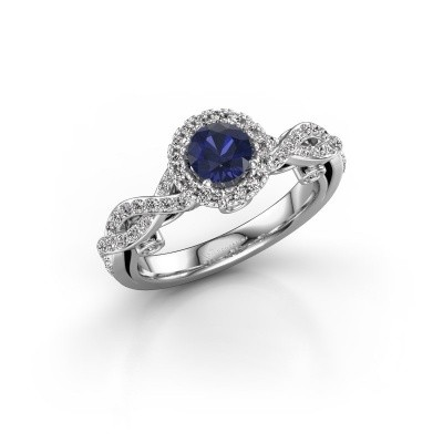 Picture of Engagement ring Madeleine 585 white gold sapphire 5 mm