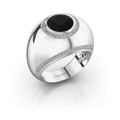 Ring Roxann 585 witgoud zwarte diamant 2.81 crt