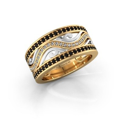 Bague Louvenia 585 or jaune diamant noir 0.825 crt