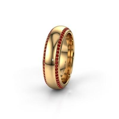 Wedding ring WH6132L36C 375 gold ruby ±6x2.2 mm