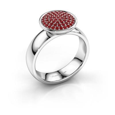 Foto van Ring Tilda 925 zilver robijn 1 mm