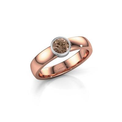 Ring Ise 1 585 rose gold brown diamond 0.40 crt
