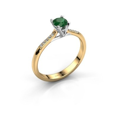 Picture of Engagement ring Isa 2 375 gold emerald 4.2 mm