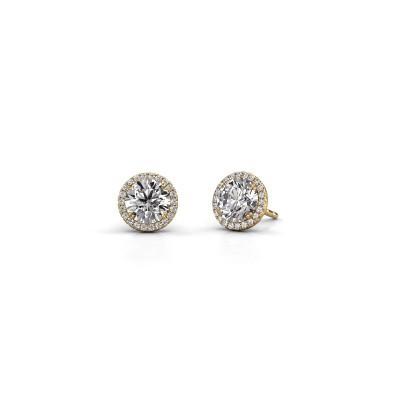 Oorbellen Seline rnd 375 goud diamant 2.20 crt