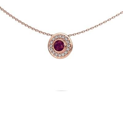 Foto van Ketting Gretta 375 rosé goud rhodoliet 4 mm