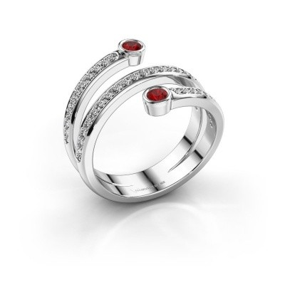 Foto van Ring Selena 1 925 zilver robijn 2.5 mm