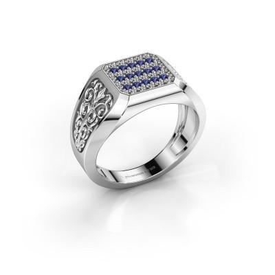 Foto van Heren ring Amir 925 zilver saffier 1.4 mm