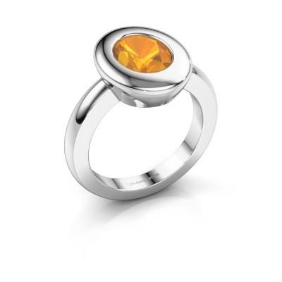 Ring Selene 1 925 zilver citrien 9x7 mm