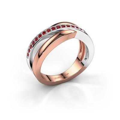 Foto van Ring Colette 585 rosé goud robijn 1.3 mm
