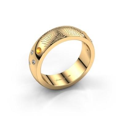 Foto van Ring Minke 585 goud citrien 2 mm