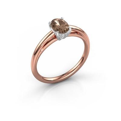 Verlobungsring Haley OVL 1 585 Roségold Braun Diamant 0.80 crt