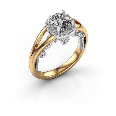 Foto van Verlovingsring Carina 585 goud diamant 0.44 crt