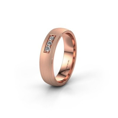 Ehering WH0110L25AM 375 Roségold Lab-grown Diamant ±5x1.7 mm